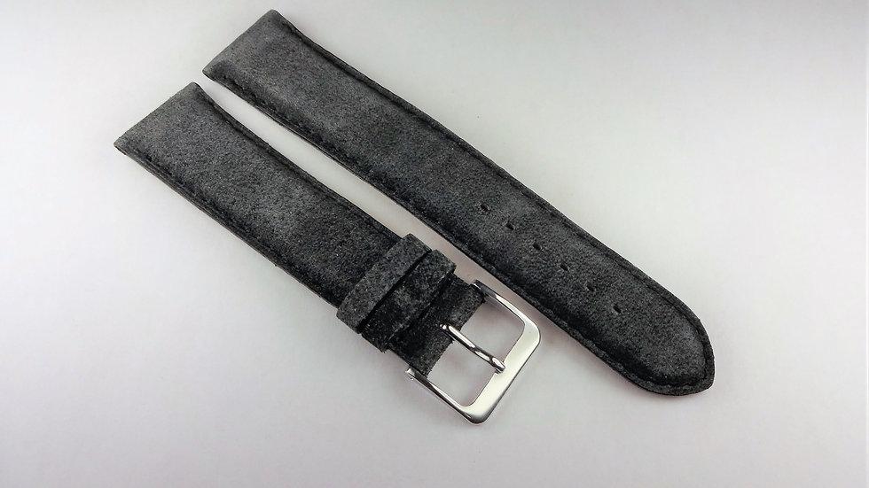 Replacement 20mm Black Velvet Genuine Leather