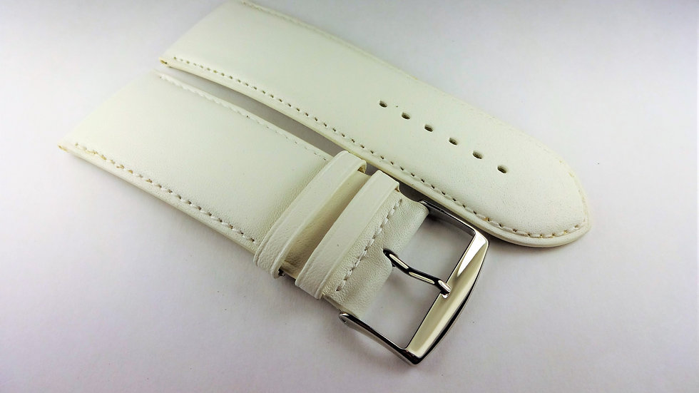 Replacement 30mm White Genuine Box Plain Leather