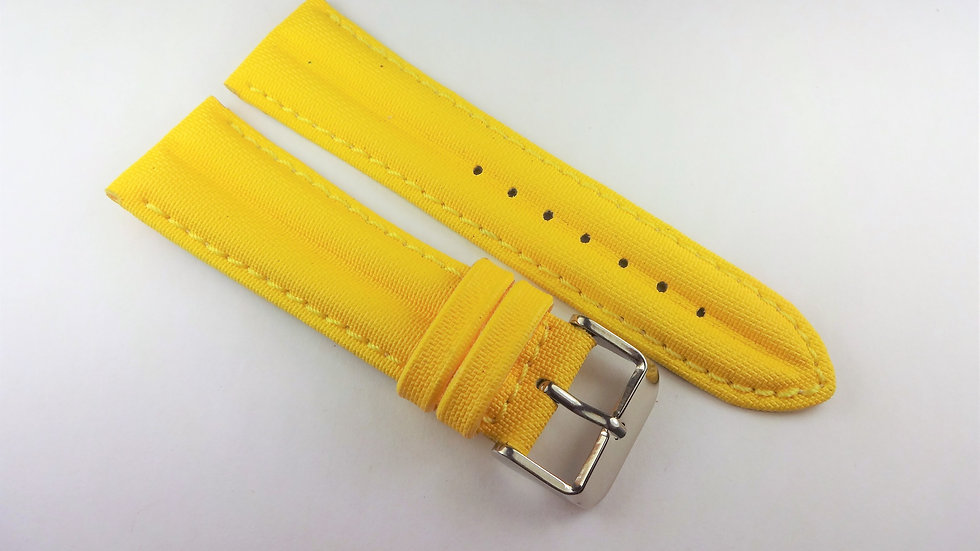 Replacement 24mm Yellow Rubberized Leather