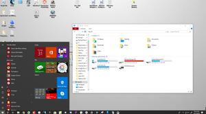 Windows 10 Start Menu and File Explorer