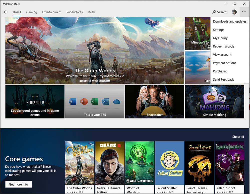 Microsoft Store on Windows 10