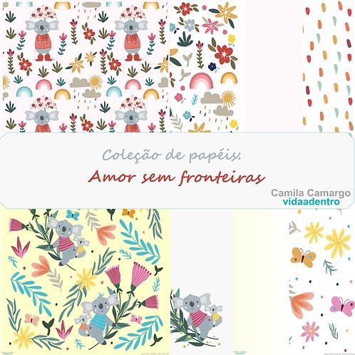 Coleção de papéis Amor sem Fronteiras 30,5x30,5