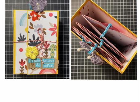 Mini álbum: Caixa de Cereal com Cinthia @scrapspot #scrapconciente
