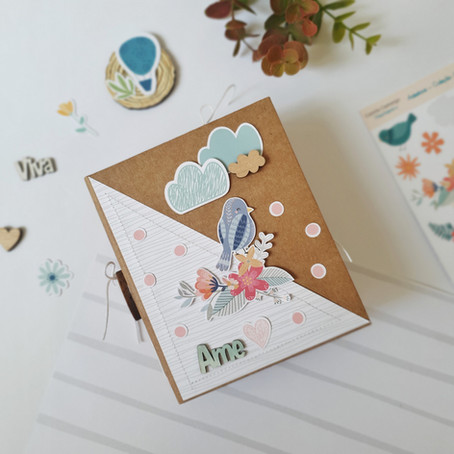 Mini álbum - AME por Denise Vieira @comafetoecompapel