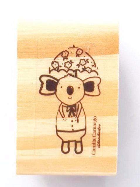 Carimbo madeira Coala