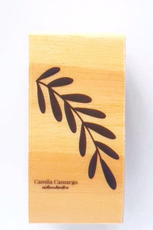 Carimbo  madeira folha