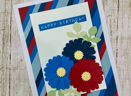 Cartão Happy Birthday - Sobras de papéis com Vanessa Rubio #scrapconsciente
