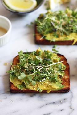 Toasts Avocats - MicroGreens