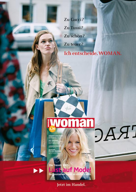 Woman Anzeige