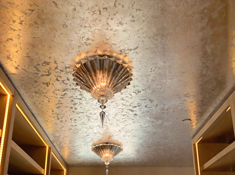 Limestone Plaster Finishes and Faux Parchment for Alexander M. Reid Baccarat Hotel