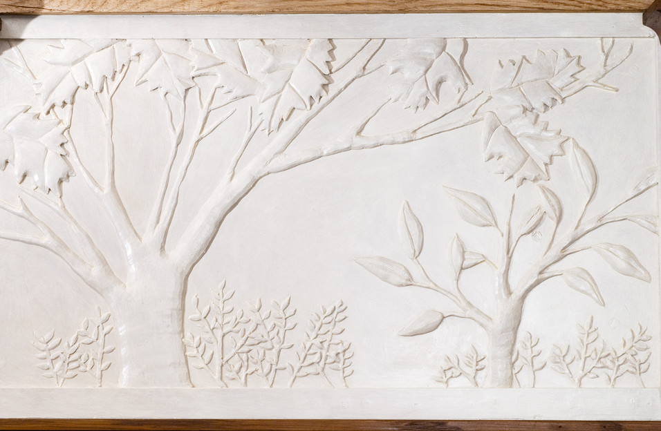 Detail of Hand Carved Plaster Friezes