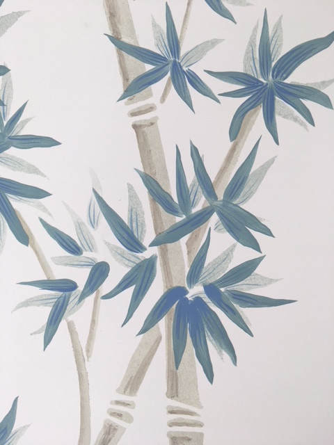 Detail of Hand Painted Mural for Caribbean Vacation Home