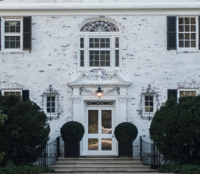 Lime Washed Exterior Brick for Historic Georgian Home