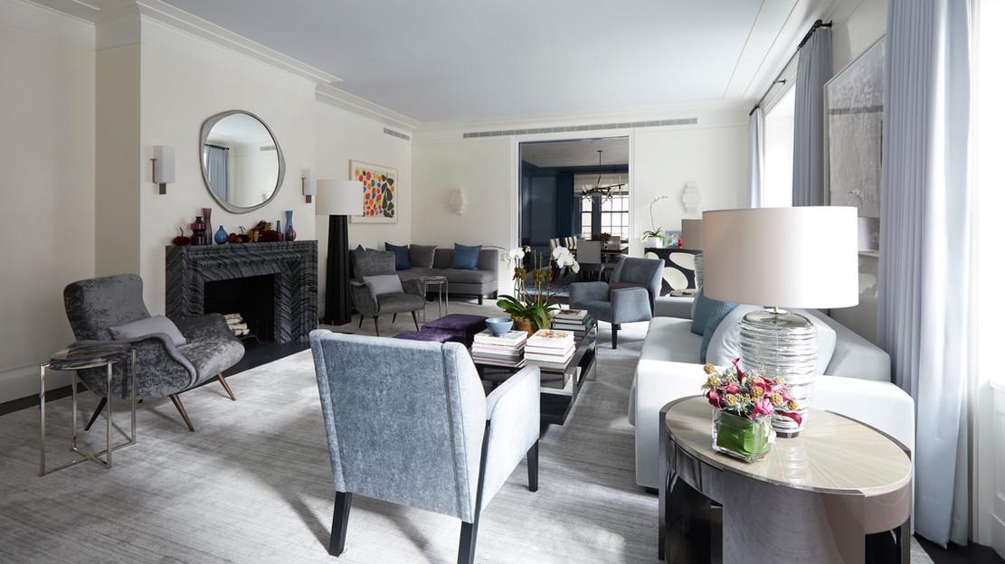 Custom Artisan Textured Finishes for Ike Kligerman Barkley Architects Park Avenue Residence