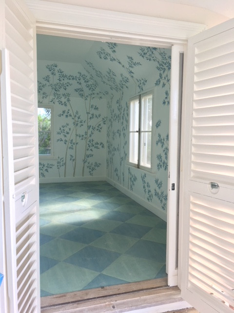 Hand Painted Mural for Caribbean Vacation Home