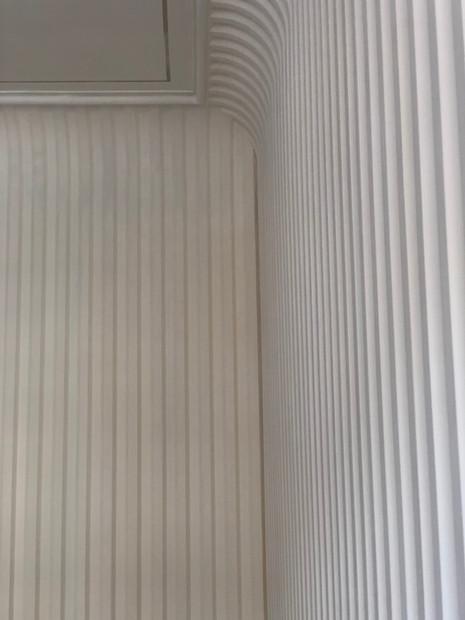 Fluted Plaster Walls