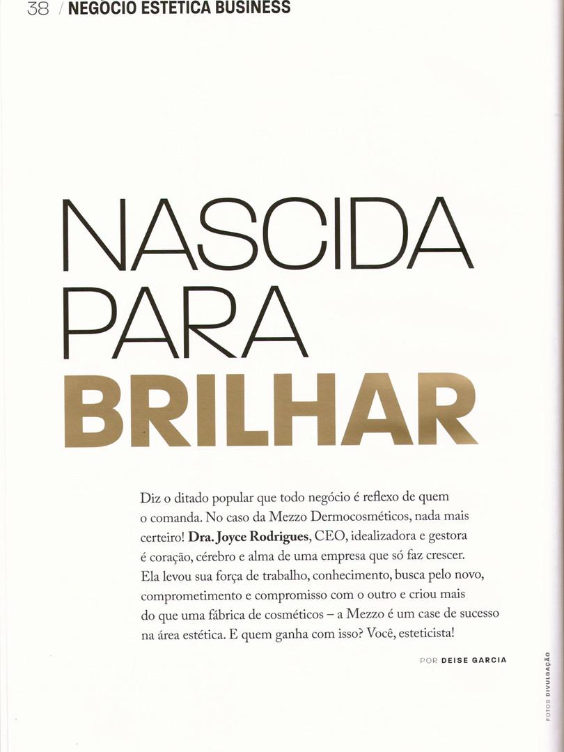 Entrevista - Revista Negócio Estética