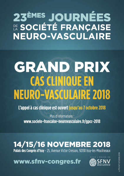 Grand Prix Cas clinique Neuro Vasculaire - soumission ouverte jusqu'au 7 octobre minuit