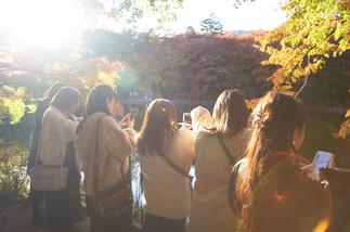 girls at Kumobaike Pond