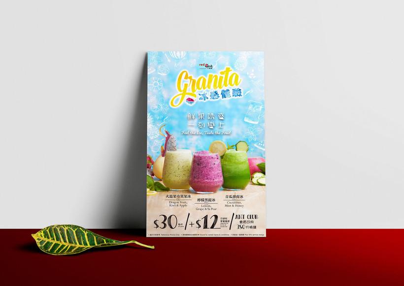 drink menu of granita