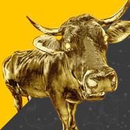 Golden Bull Mascot