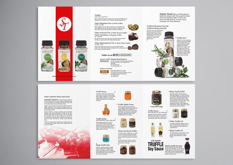 leaflet about truffle products