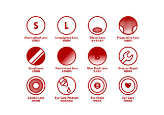icons for different product and service categories