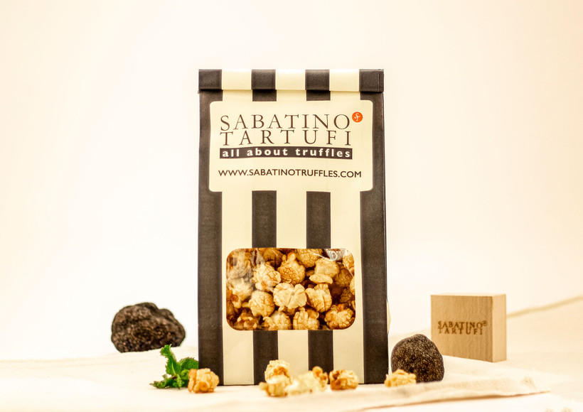 product mood shot of truffle popcorns for an exhibition