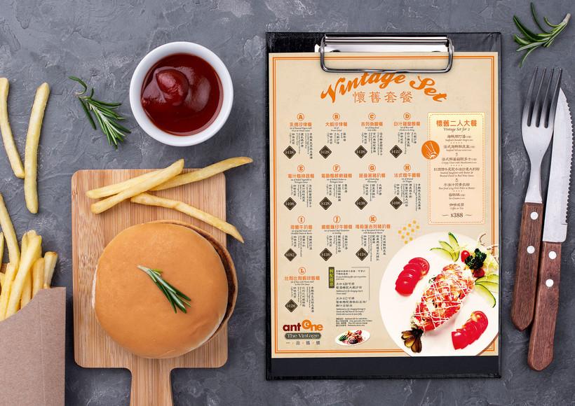 vintage set menu