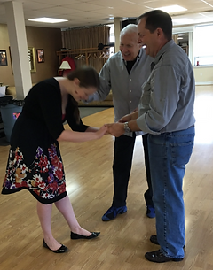Father/Daughter wedding dance lesson with Gary Stephans
