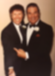 Gary Stephans with Bert Parks 1983 Miss Wisconsin Pageant.png