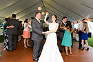 Bride and groom dancing at their wedding after taking lessons from Gary Stephans