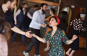 Free swing dance lessons at La Trattoria restaurant in Old Town Alexandria, VA