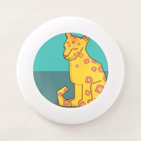 """Frisbee """"Cute leopard"""""""