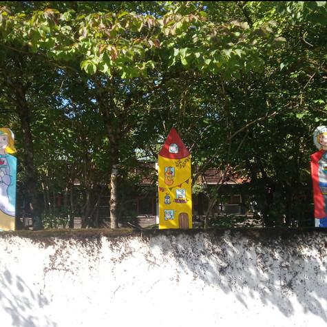 Wooden figures for the kindergarten