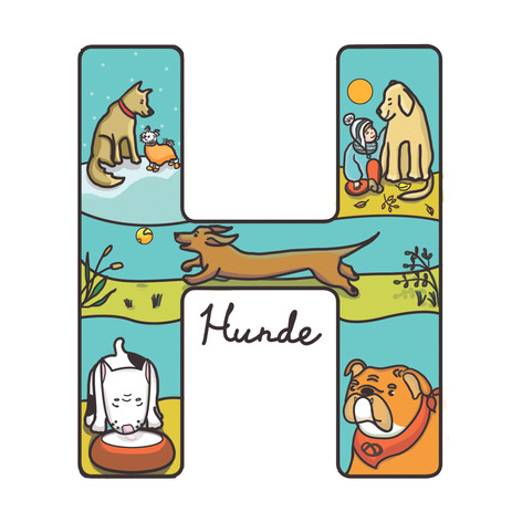 H for Hunde (dogs)
