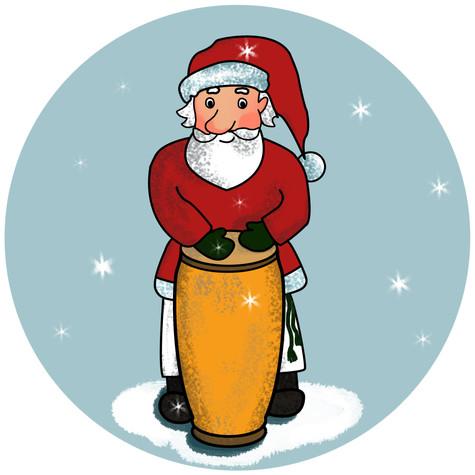 Capoera Weihnachtsmann