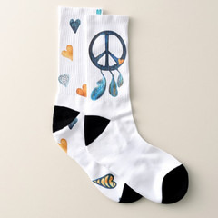 """Socken """"Pacific Zeichen und Herzen"""""""