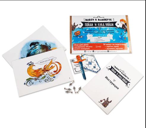 Cards, envelope, instruction and details