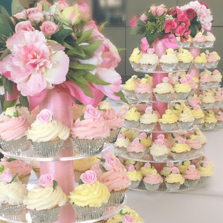 Cupcake tower with roses