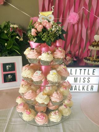 Baby Shower Cupcake Display