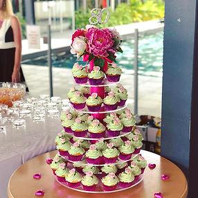 Birthday Cupcake Tower cupcake stand hire brisbane