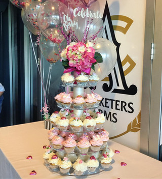 Baby Shower Girl cupcake tower
