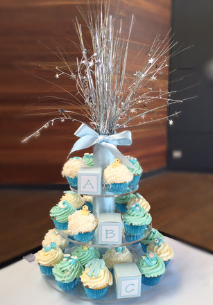 Baby Shower cupcake stand for a baby boy