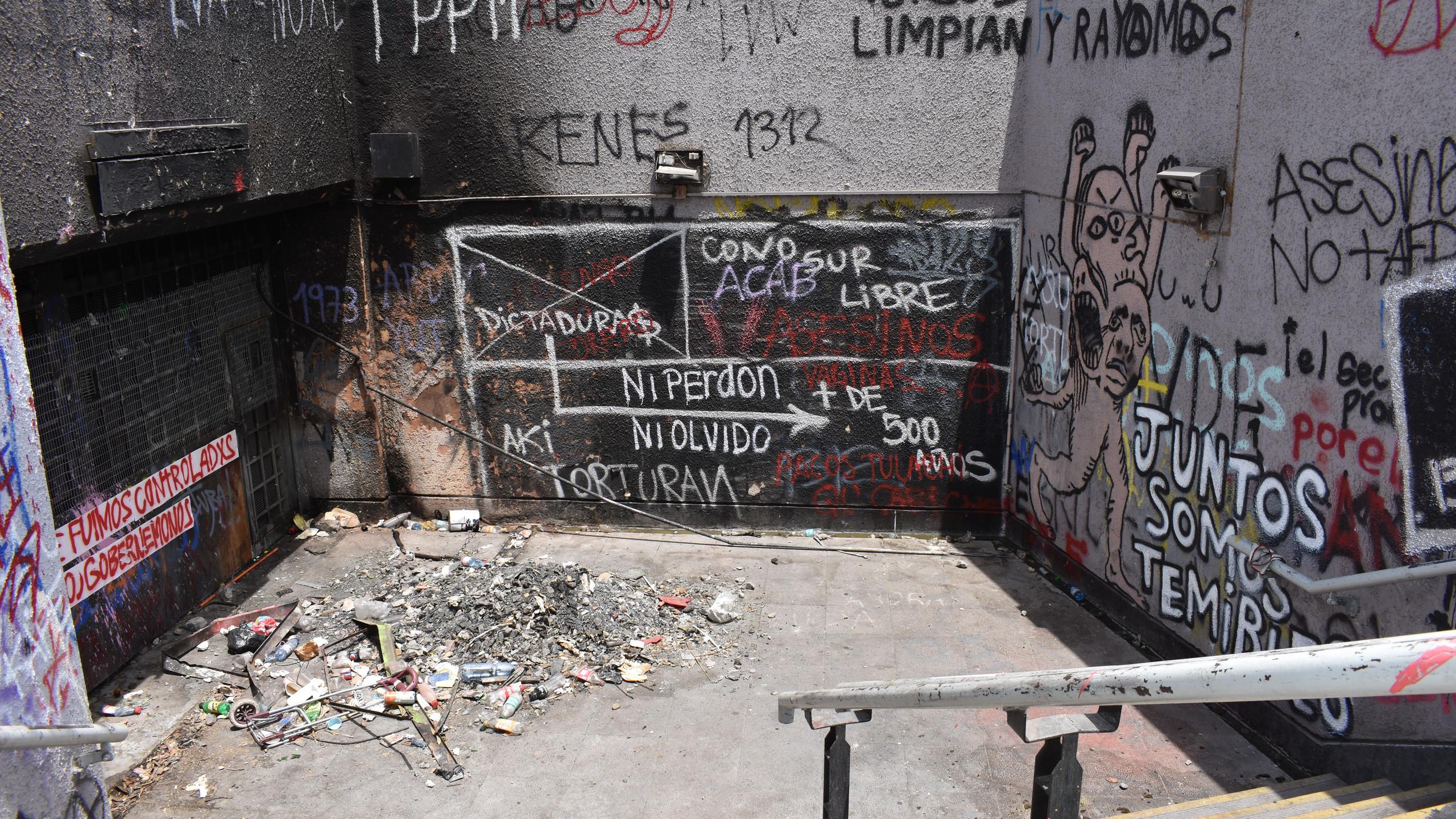 Entrata metropolitana Baquedano