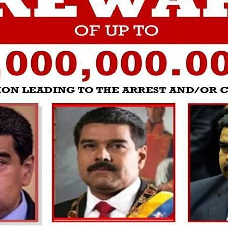 Venezuela, gli Usa ci riprovano: taglia da 15 milioni su Maduro