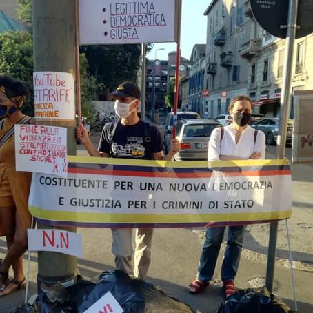«Pace e giustizia»: manifestazione per la Colombia a Milano