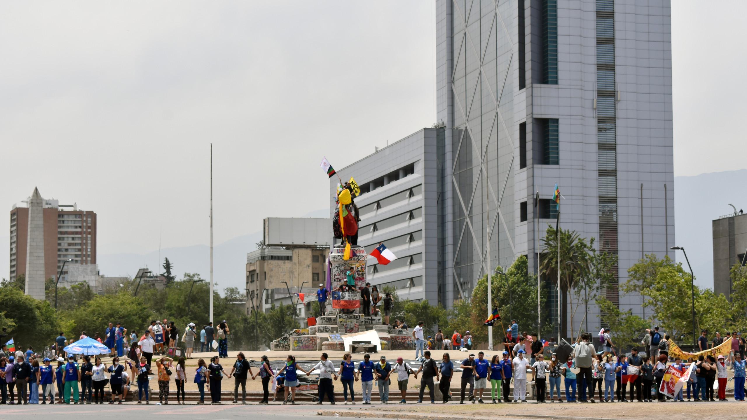 Manifestazione a plaza Italia