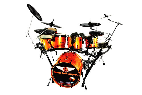 PDC Drum Kit  Lamborghini Orange Pearl