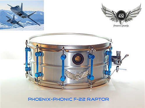 Phoenix-Phonic F-22 Raptor Fat Cat Aluminum Snare